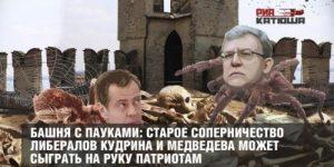 Башня с пауками: старое соперничество либералов Кудрина и Медведева может сыграть на руку патриотам