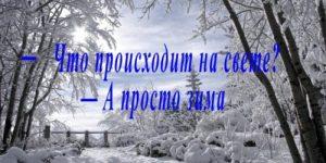 Зимнее стихотворение Юрия Левитанского