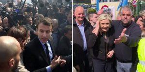 Макрона освистали в родном городе. Опросы показали рост рейтинга Ле Пен