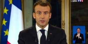 Ле Пен отреагировала на «чрезвычайное» выступление Макрона. Видео.