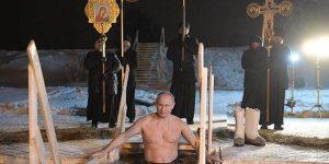 Путин окунулся в иордань