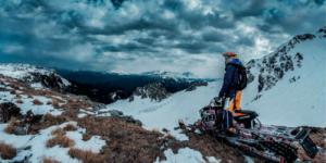 Экстремальное катание на снегоходах на Аляске