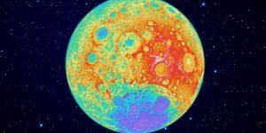 Разноцветная Луна: карта минерального состава земного спутника