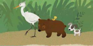 ОЧЕНЬ ТРОГАТЕЛЬНЫЙ МУЛЬТИК ОБ ОДНОЙ ЦАПЛЕ И ЕЁ НЕОБЫЧНЫХ (по мнению других птиц) ПОСТУПКАХ