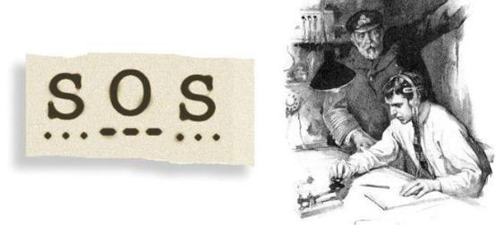 3 октября 1906 года утвержден международный сигнал бедствия на море,  известный как «SOS» | РОССИЯ — НОЕВ КОВЧЕГ