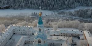 Валаамский монастырь снял «Зимнюю сказку русского севера»
