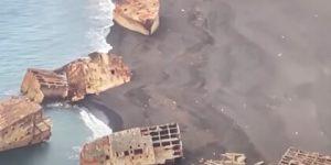 Землетрясение подняло со дна океана затонувшие при Иводзиме японские суда