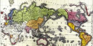 """""""Политический баланс земного шара""""- карта 1829 г., о которой не принято говорить"""